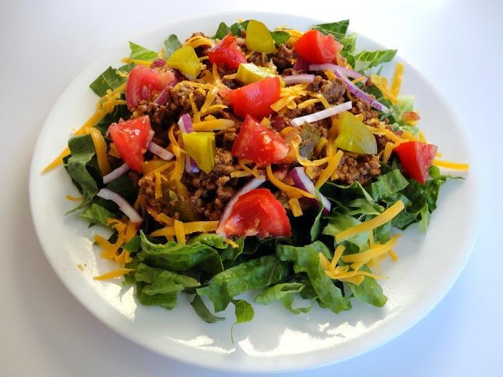 Cheeseburger Salad | Veronica's Cornucopia