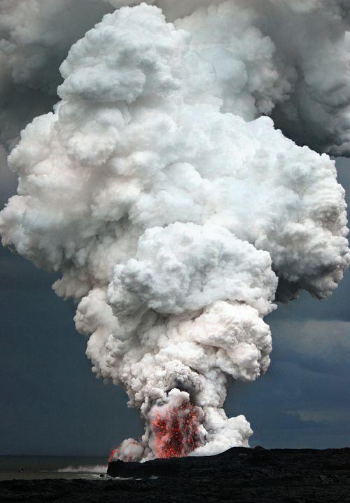 Lava steam cloud | Beautiful photos | Pinterest