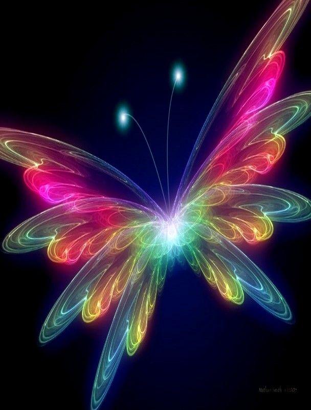 Rainbow Butterfly | Fractal Beauty | Pinterest