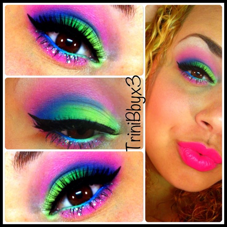 Pictures Of Neon Makeup Rock Cafe
