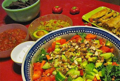Raw Kale Salad w/ Lemon Tahini Dresssing | Treats and Tastes ...