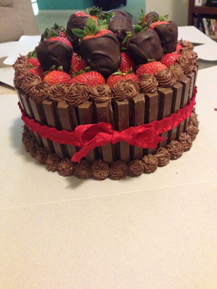Chocolate covered strawberry cake | Baking | Pinterest