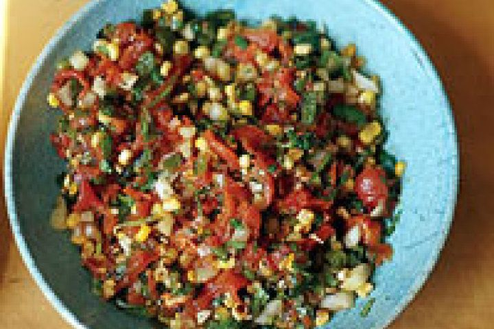 Roasted Tomato and Corn Salsa | Recipes | Pinterest