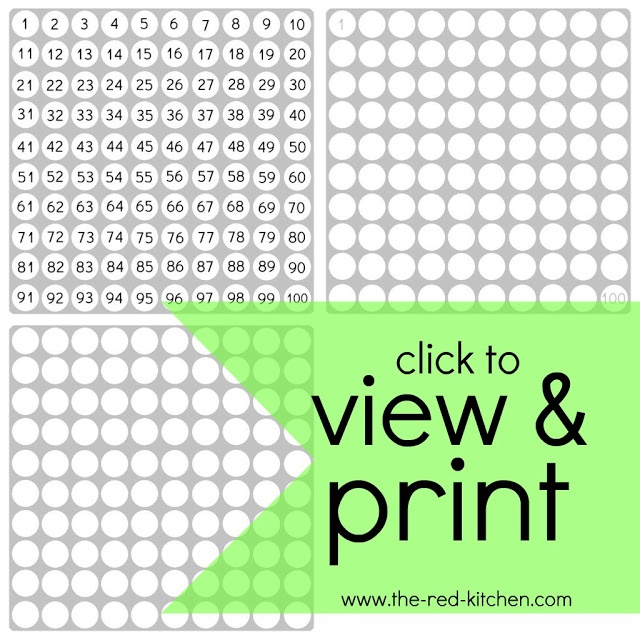 640 x 640 jpeg 153kB, The red kitchen: 1-100 Charts (free printables!)