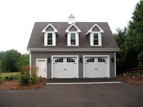 Detached 2 car garage home decor pinterest for 2 door garage plans