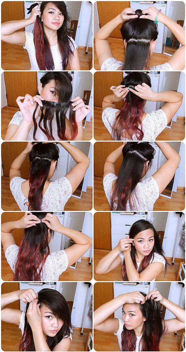Как сделать омбре на темные волосы в домашних условиях пошагово
