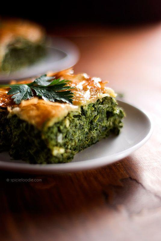 Spanakopita or Greek Spinach Pie Recipe   Greek Recipes   Pinterest