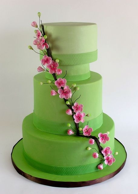 green fondant cakes