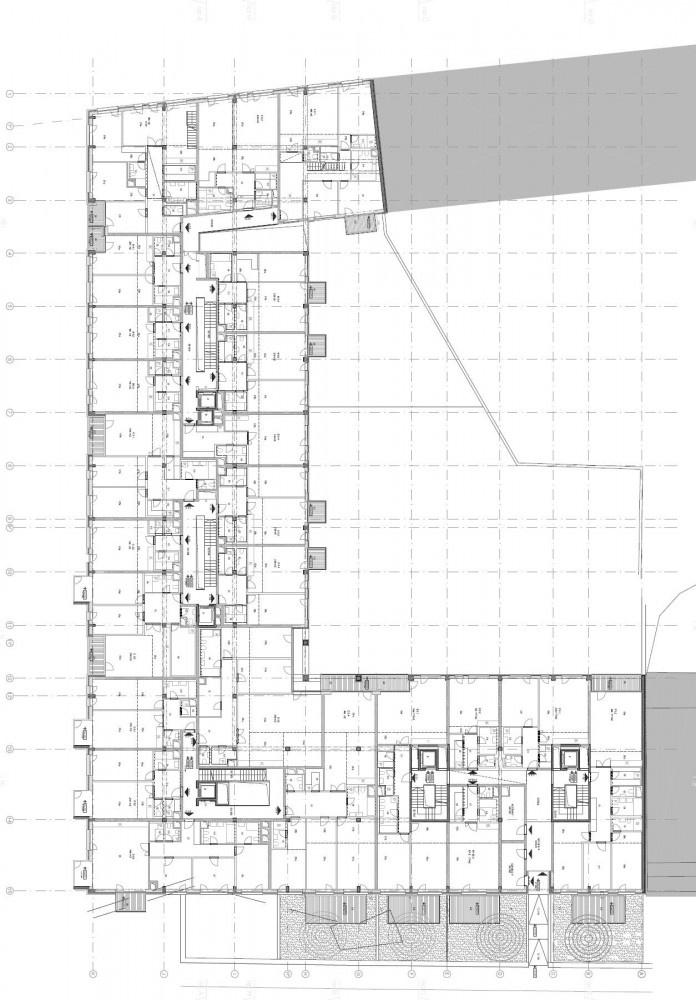 Multi core apartment block floor plans pinterest for Apartment block floor plans