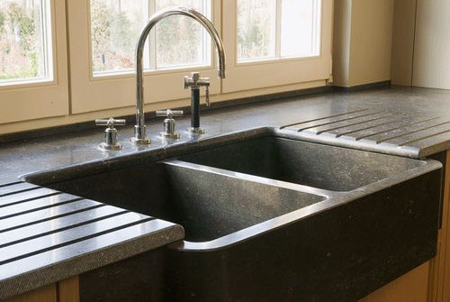 Natural Stone Kitchen Sinks : Natural stone kitchen sink Pierre Bleue my future home Pinterest