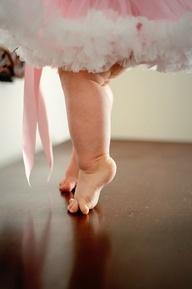 Practice young to walk in heels.