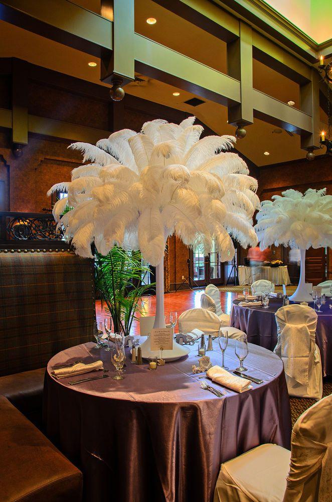 Wedding Reception Centerpieces Hire : Rent ostrich feathers wedding centerpieces rentals