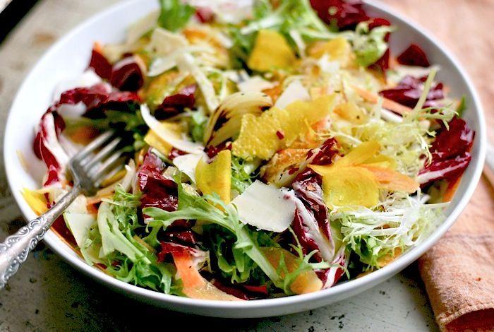 ... salads | frisee and radicchio salad 2 Colorful Winter Salad: A Rainbow