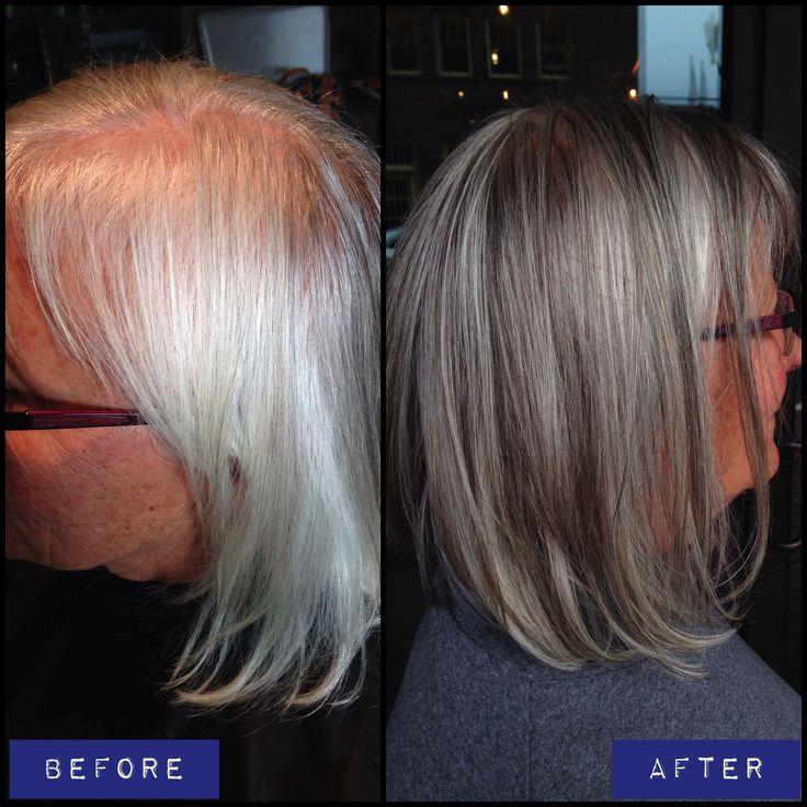 Highlighting Gray Hair Blending Gray Hair With Highlights