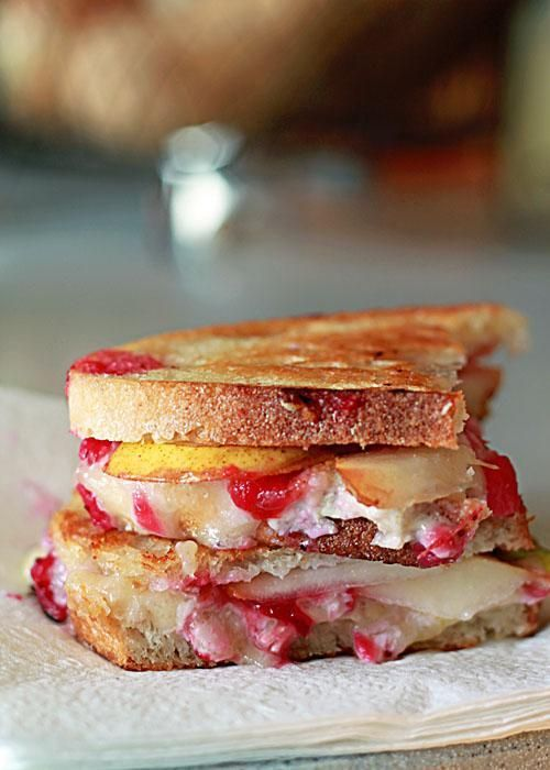 Cranberry, Pear, and Brie Grilled Cheese.