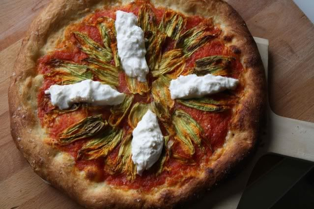 Squash blossom pizza - | Soup, Sandwiches and Pizza and Salads | Pint ...