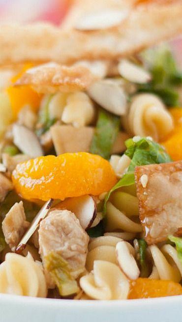 Asian Sesame Chicken Wonton Pasta Salad | Recipe
