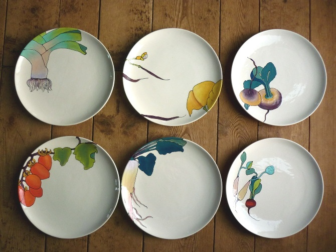 Sydney Albertini plates: ceramic + vegetables.