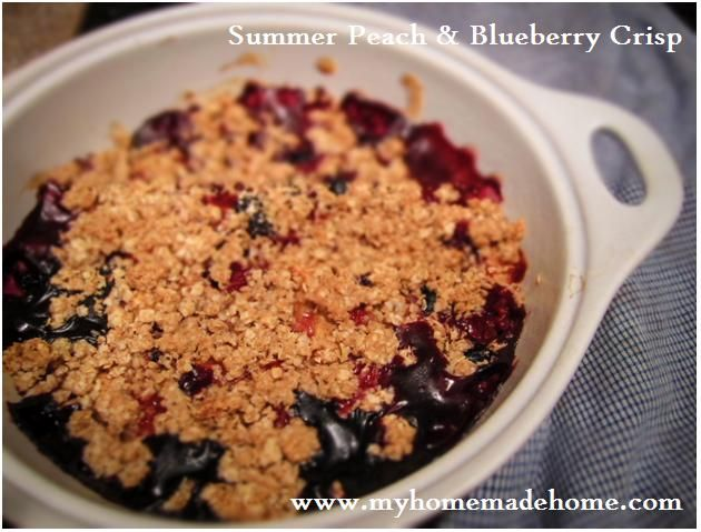 Delicious Peach and Blueberry Crisp | Favorite Recipes | Pinterest