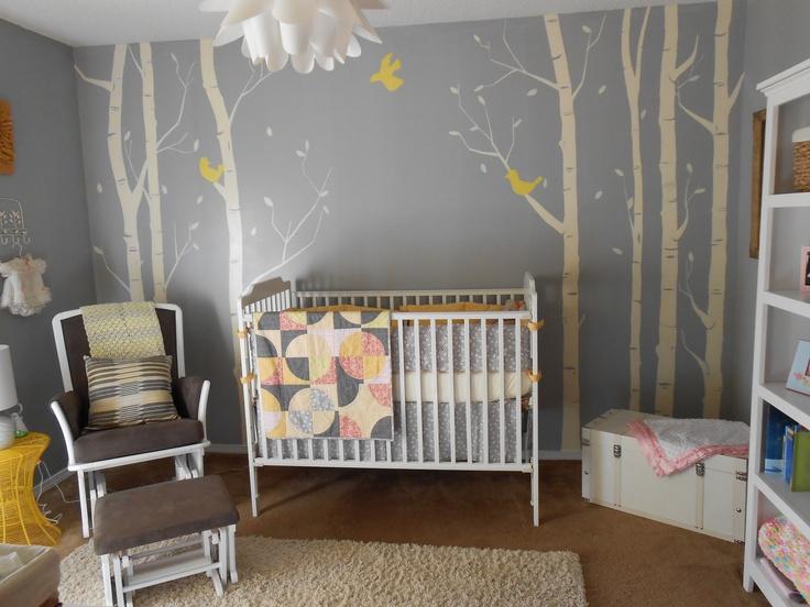 Gray and yellow nursery baby room yellow pinterest - Gray and yellow baby room ...