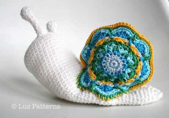 Crochet pattern, amigurumi baby snail doll (140) baby ...