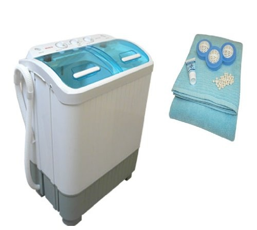 Buy portable mini twin tub washing machine with spin dryer 889 ideal for caravans or small - Washing machines for small spaces photos ...