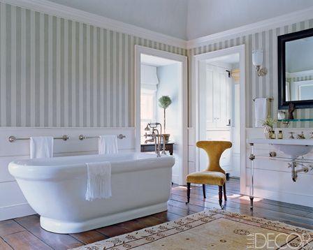 Stripe Wallpaper and floors