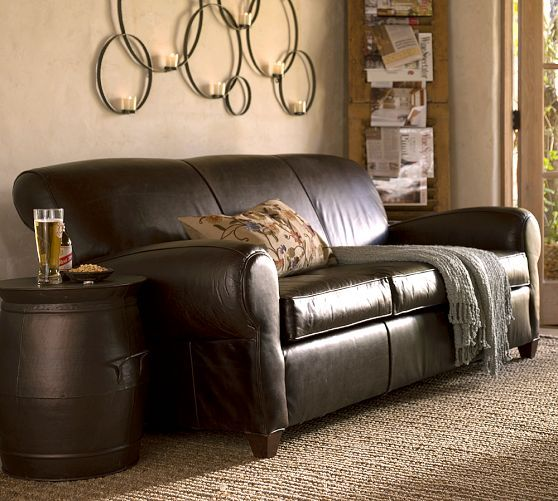 Manhattan Leather Sofa Pottery Barn Things That I