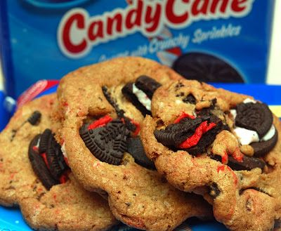 CANDY CANE OREOS MEET CHOCOLATE CHIP COOKIES….BECAUSE 2 COOKIES ARE ...