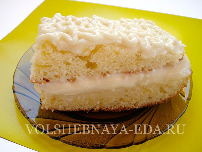 Крем на торт из сметаны домашней