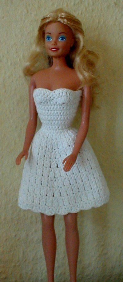Crochet Pattern Doll Dress : Barbie Dress Barbie crochet patterns Pinterest