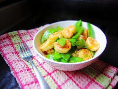 : Shrimp and Snow Pea Stir Fry | Made this tonight with regular peas ...