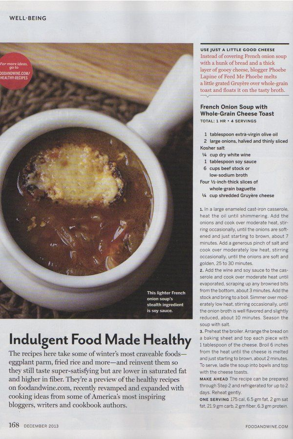 French Onion Soup with Whole-Grain Crostini - Food & Wine: Indulgent ...