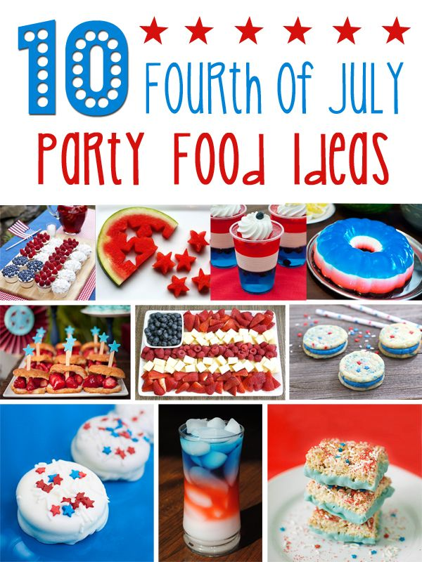 july 4th party recipes