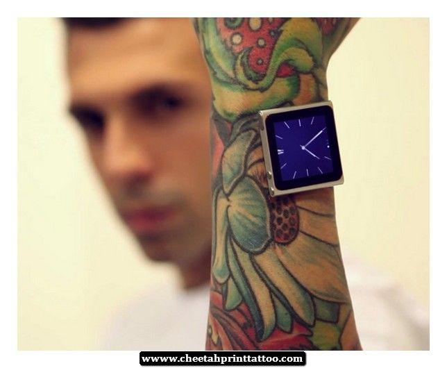 Cheetah Print Wrist Tattoos