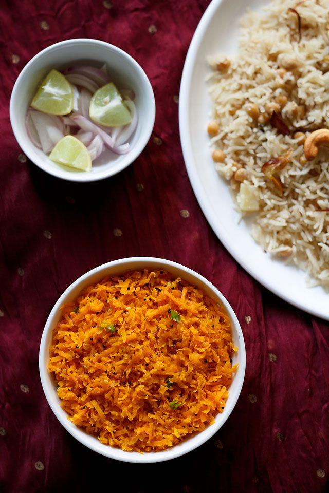 carrot sambharo – warm and spiced, stir fried carrot salad recipe ...