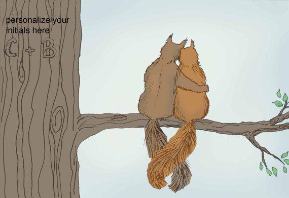 Cute squirrels in love - photo#23