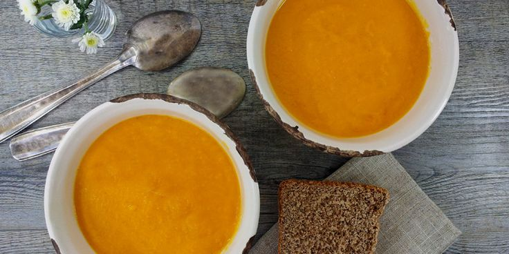 sweet potato and parsnip vanilla soup | eat | Pinterest