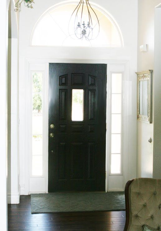 Painting Front Door Black