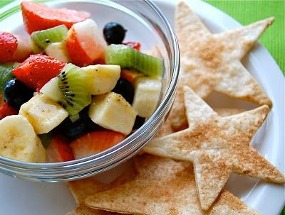 Fresh Fruit Salsa with Cinnamon Crisps | Fruit | Pinterest