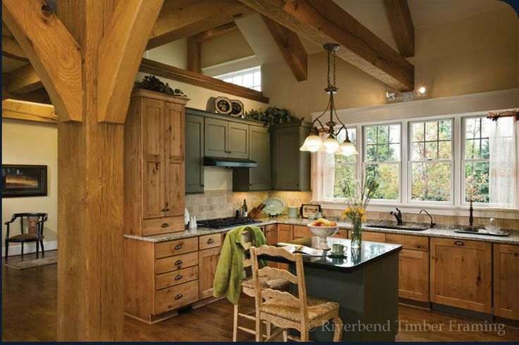 Cabinets Timber Frame Kitchen Home Dream House