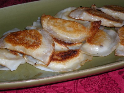 Wonton Wrapper Pierogi - I double wrap them and add spinach and lots ...