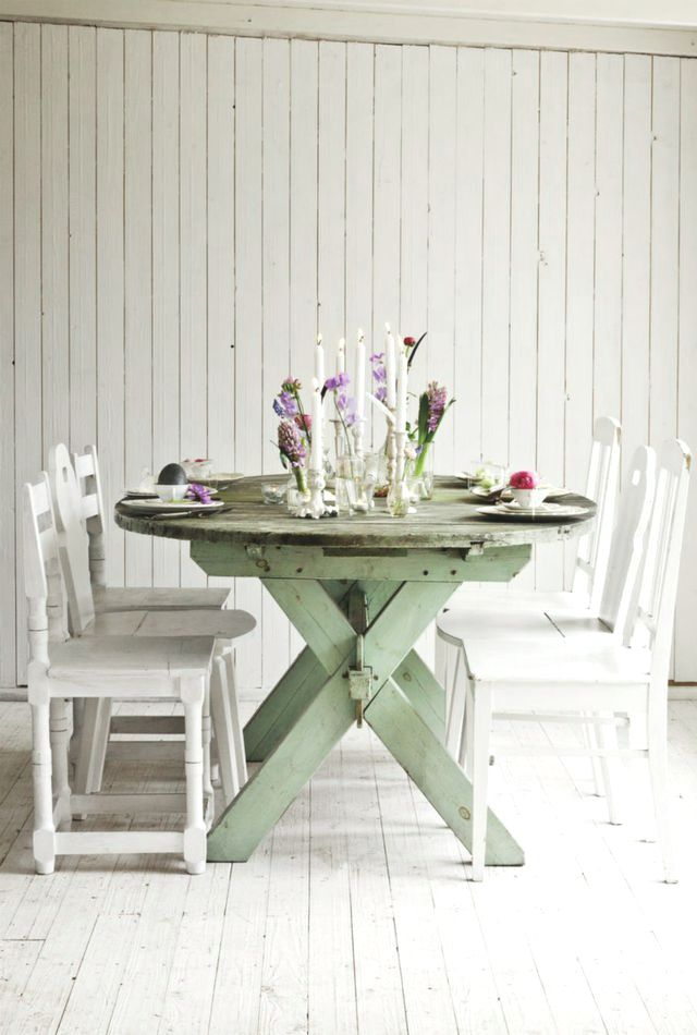 Cottage Shabby Chic Dining Table Chic Shabby Pinterest