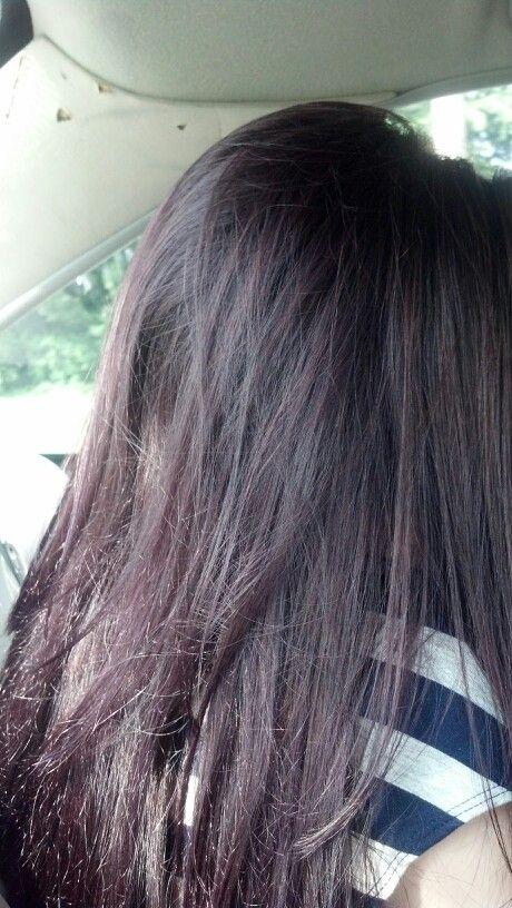 Dark Brown Purple Tint Hair Color My new hair color,