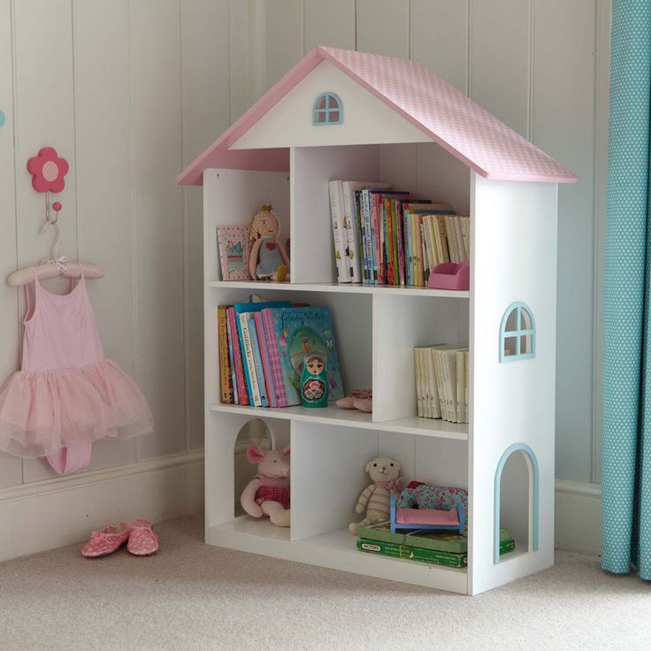 Dotty Dolls House Bookcase - Our Dolls House Toddler Bedroom - Create ...
