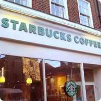 Favorite Starbucks in St. Albans!  I meet my friends from school here - we met in ................... 1970!!!!! xxx