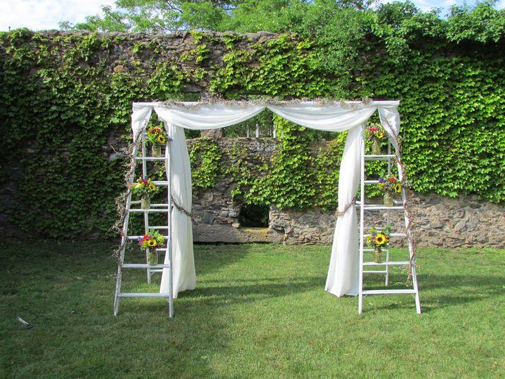 Wedding ladders arbor wedding ideas pinterest for Arbor wedding decoration ideas