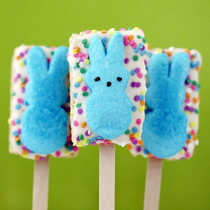 ... Krispie Treat Peeps will keep 'em full of sugar! Source: Love From the