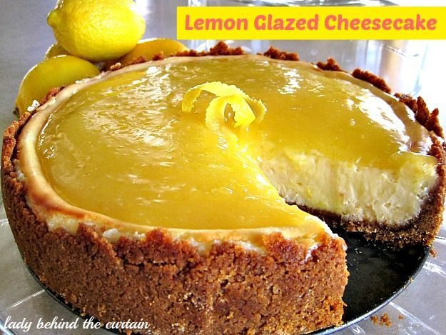 Lemon-Glazed Cheesecake