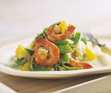 Fettuccine with Fennel, Shrimp, and Peas. A colorful blend of stir ...